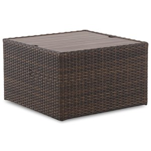 Outdoor Square Cocktail Table with Storage