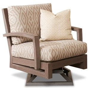 Casual Outdoor Swivel Rock Chair Reversible Cushions