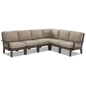 Casual Outdoor Sectional with Reversible Cushions