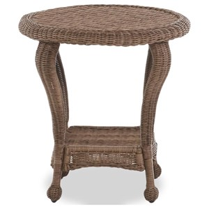Outdoor End Table with Bottom Shelf