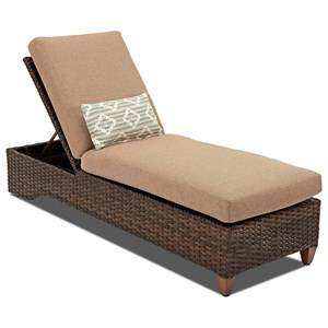 Outdoor Chaise with Drainable Cushion