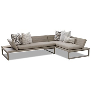 Contemporary Outdoor Daybed with Adjustable Seat Backs