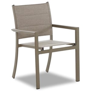 Contemporary Outdoor Dining Arm Chair