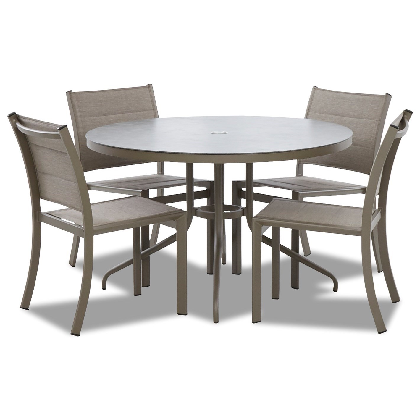 Urban Retreat 5 Piece Outdoor Dining Set by Klaussner Outdoor at Hudson's Furniture