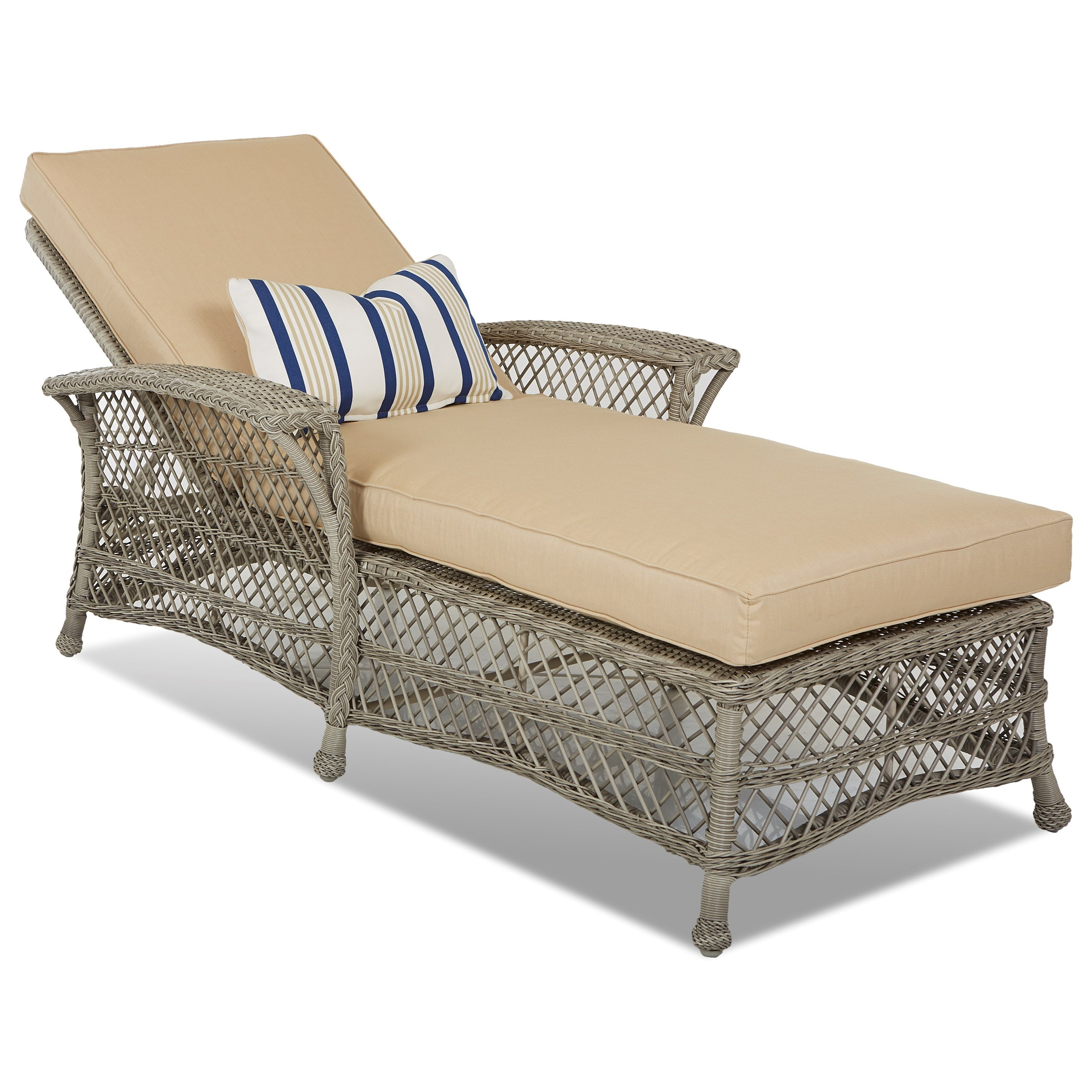 Willow Chaise by Klaussner Outdoor at Nassau Furniture and Mattress