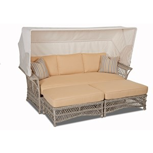 Daybed and Ottoman with Reversible Cushions
