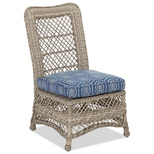 Outdoor Dining Side Chair with Reversible Cushion