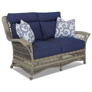 Outdoor Loveseat with Reversible Cushions