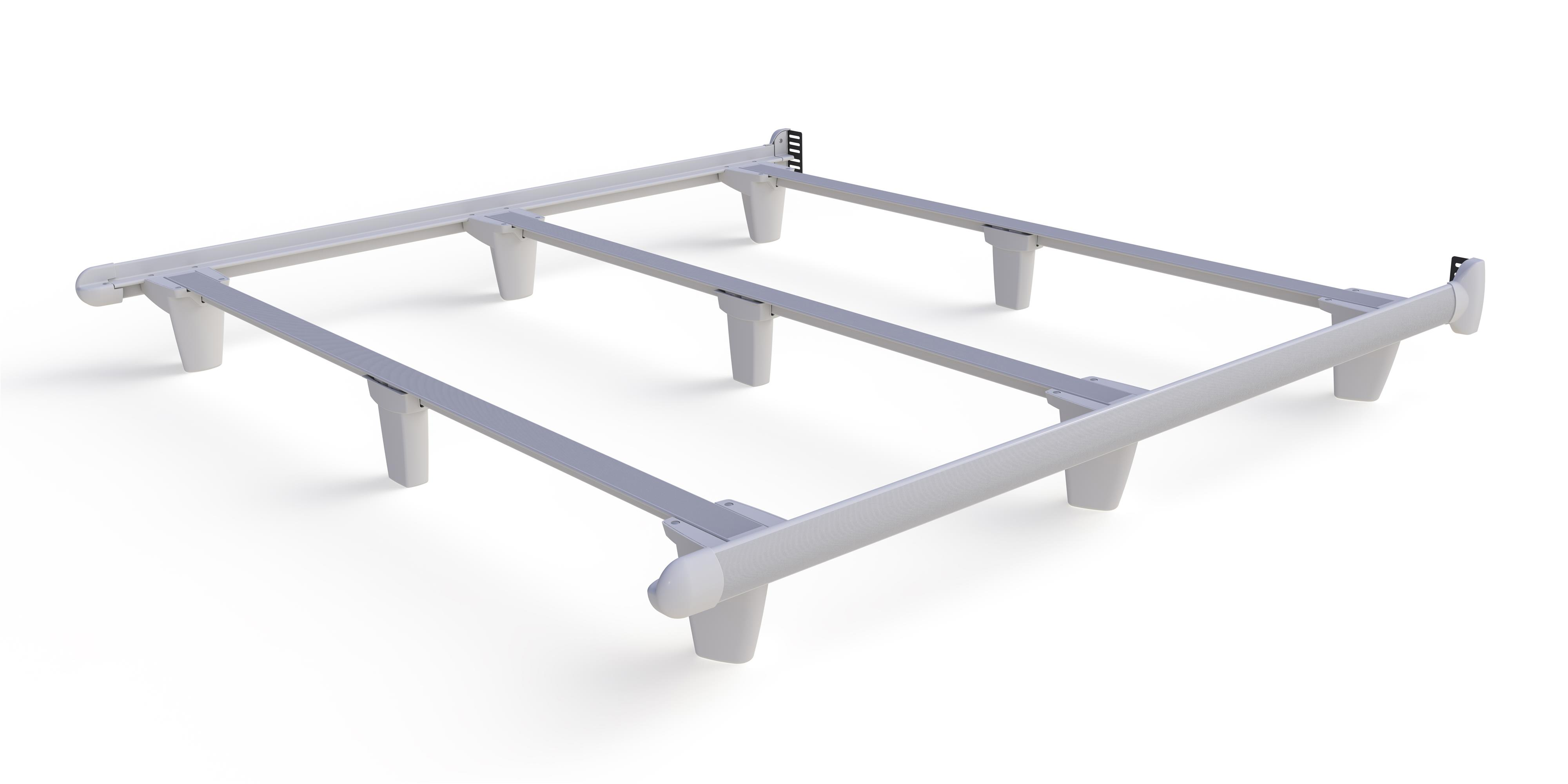 Embrace emBrace California King Bed Frame - White by Knickerbocker at HomeWorld Furniture