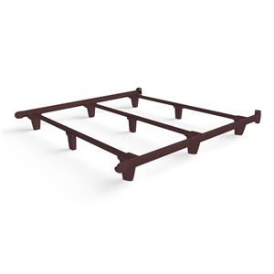 emBrace California King Bed Frame - Brown