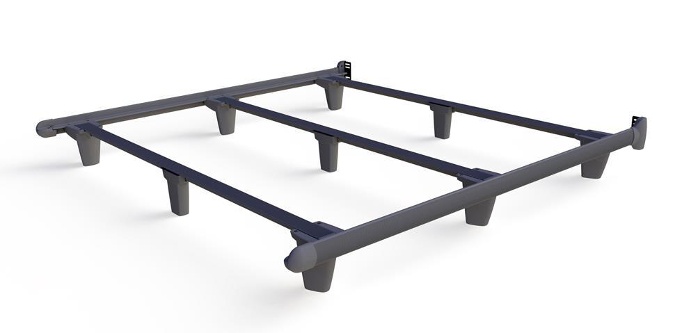 Embrace emBrace California King Bed Frame - Grey by Knickerbocker at HomeWorld Furniture