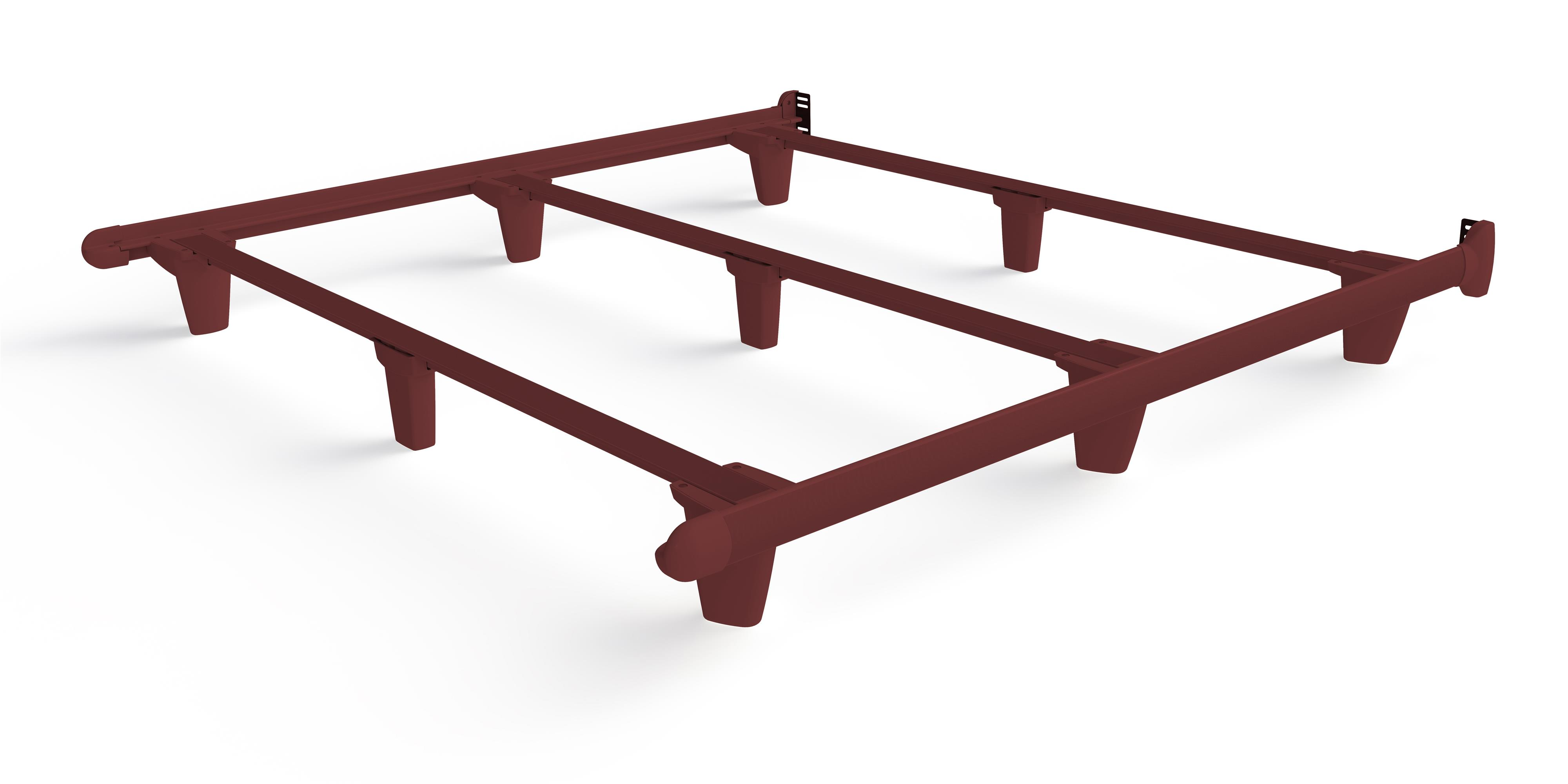 Embrace emBrace California King Bed Frame-Red by Knickerbocker at HomeWorld Furniture
