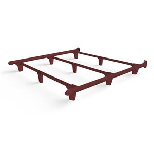 emBrace California King Bed Frame-Red
