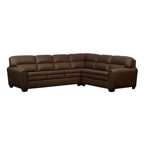 Kroehler Lifespaces D Diana Sectional Sofa with Box Band Split Backs and Euro Seats