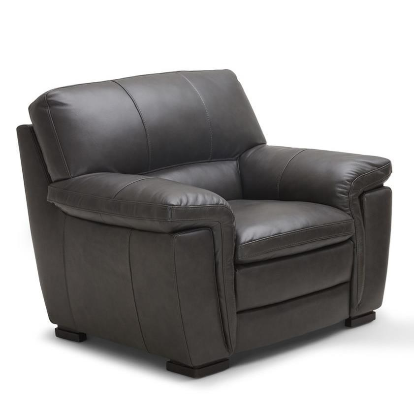 Avalon Leather Chair by K.C. at Walker's Furniture