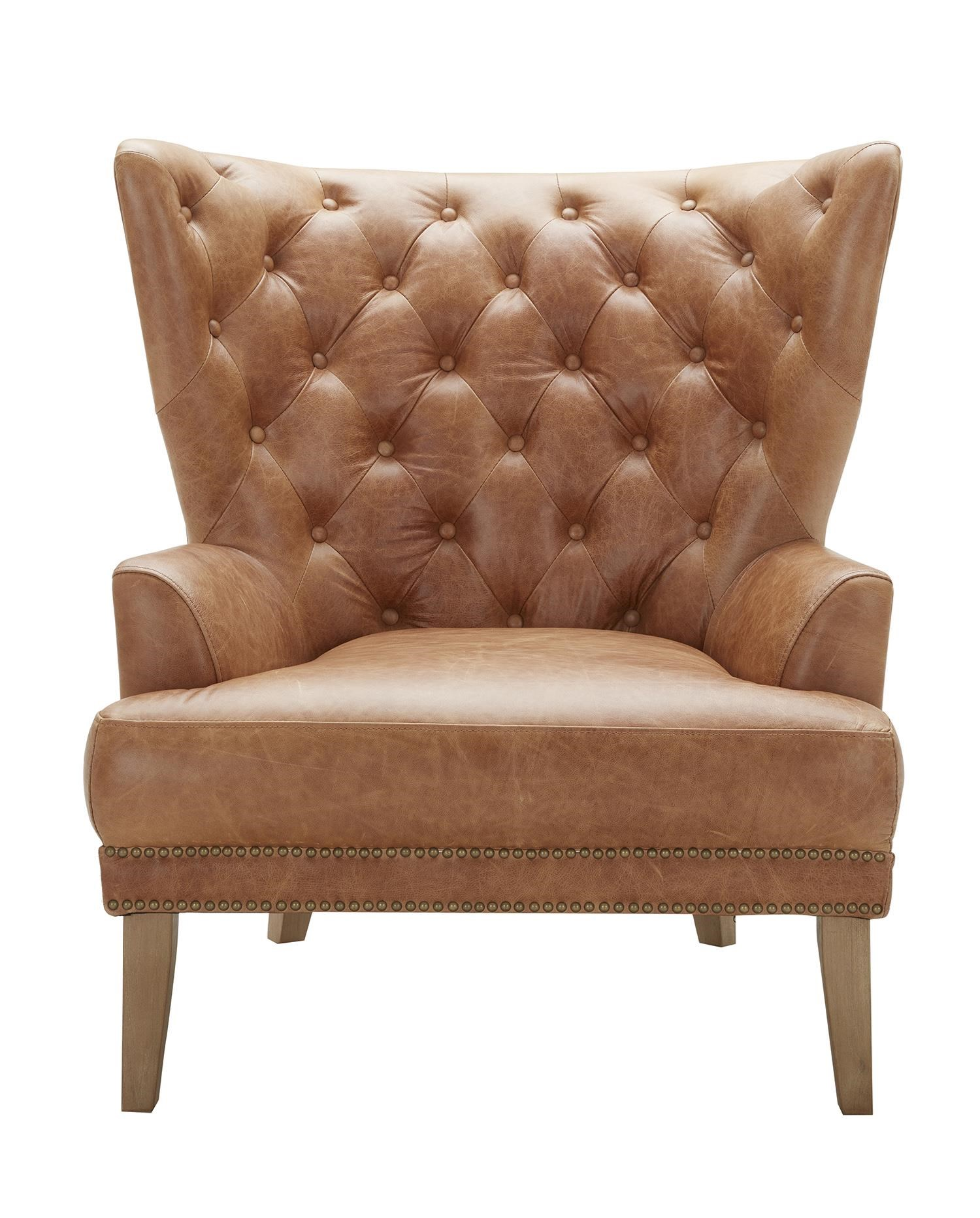 Grandin Tufted Leather Chair by Urban Evolution at Belfort Furniture
