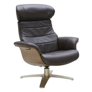 Leather Lean-Back Swivel Chair