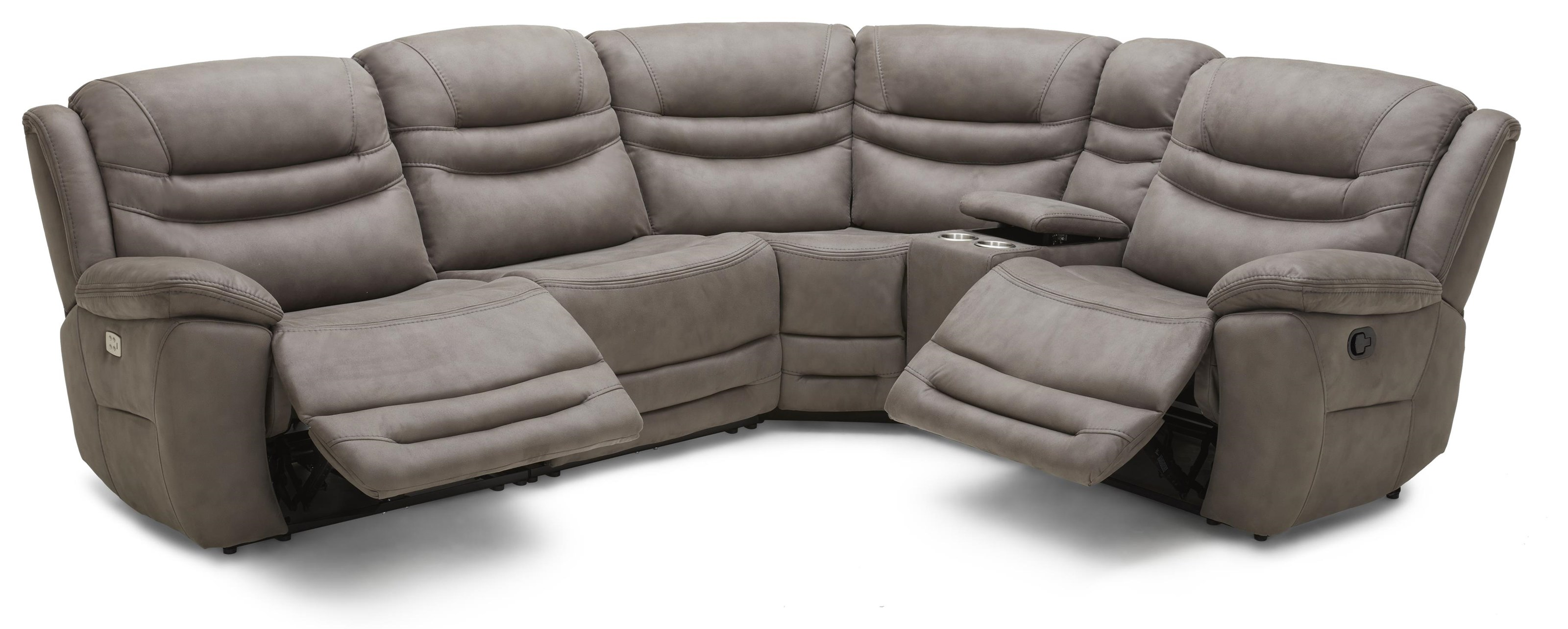 Damian Modular PWR Sectional W/ PWR Headrest by K.C. at Walker's Furniture
