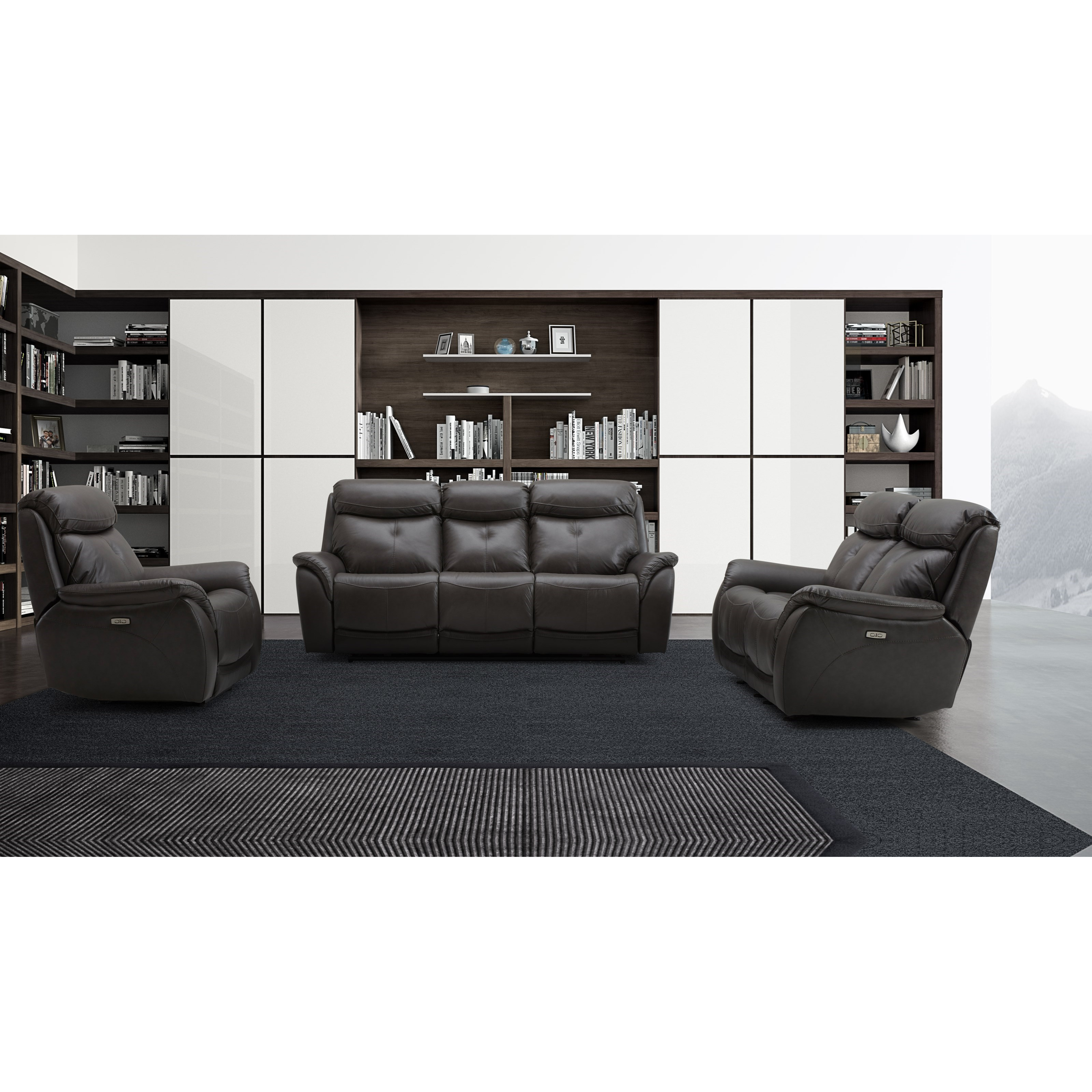 KM 167 Power Reclining Living Room Group by Warehouse M at Pilgrim Furniture City