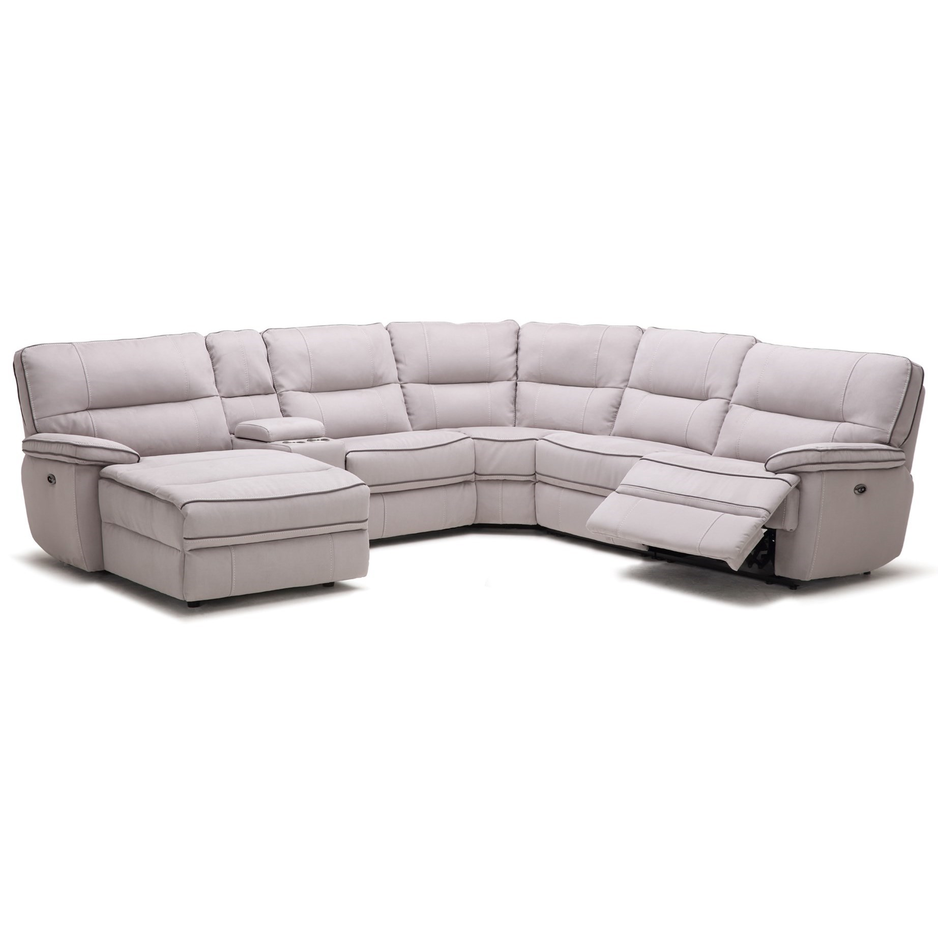KM019 6 Pc Reclining Sectional Sofa by Kuka Home at Beck's Furniture