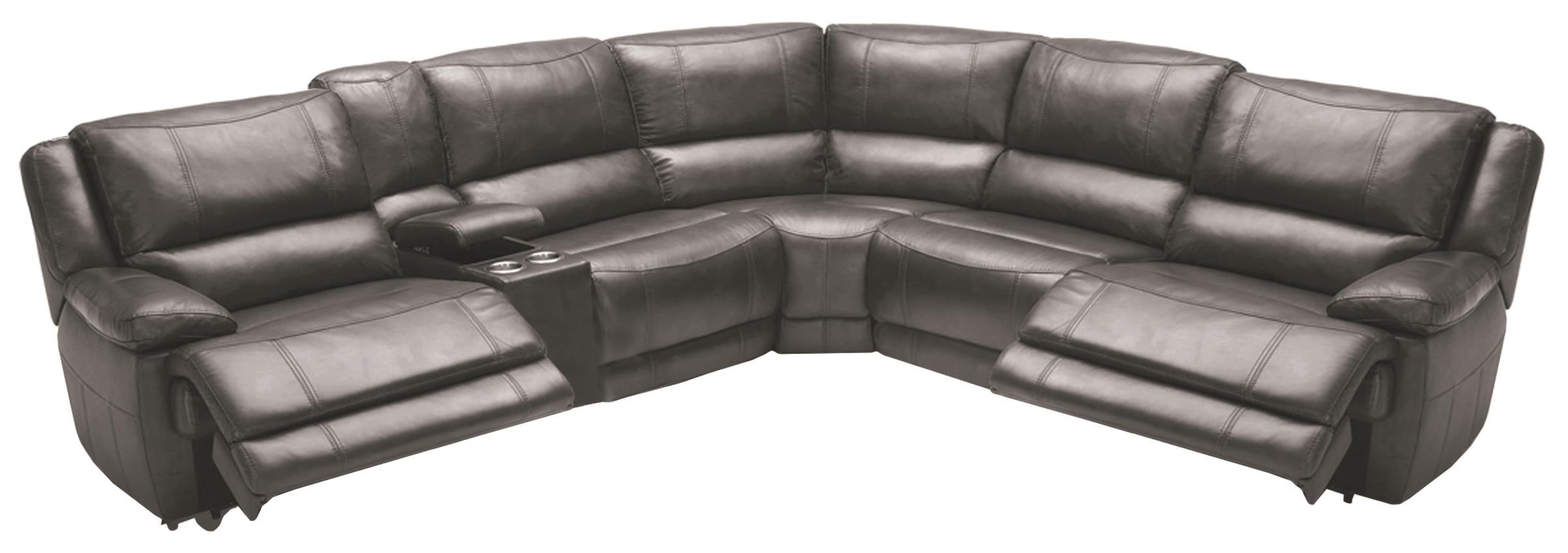 6 Pc Pwr Reclining Sectional Sofa at Sadler's Home Furnishings