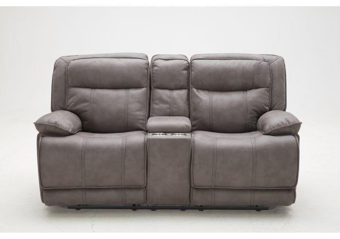 KM030 Reclining Pwr Glider Loveseat w/ Console by Kuka Home at Beck's Furniture