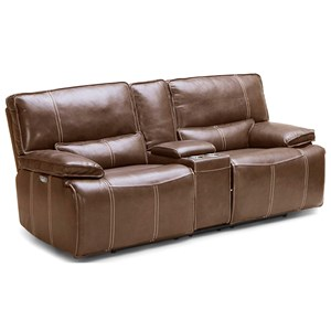 Power Console Reclining Loveseat with Power Headrests and USB Ports
