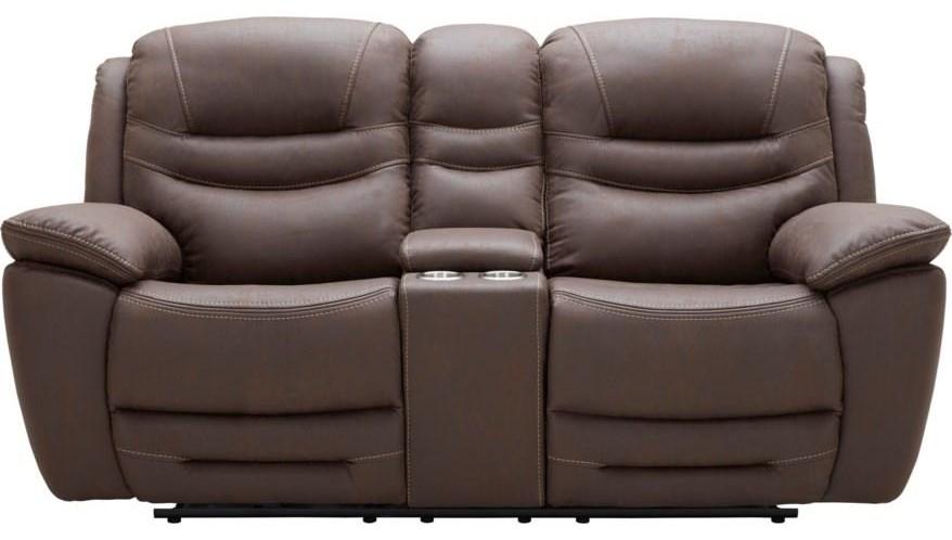 Shaffer Power Reclining Loveseat w/ Power Headrest by K.C. at Walker's Furniture