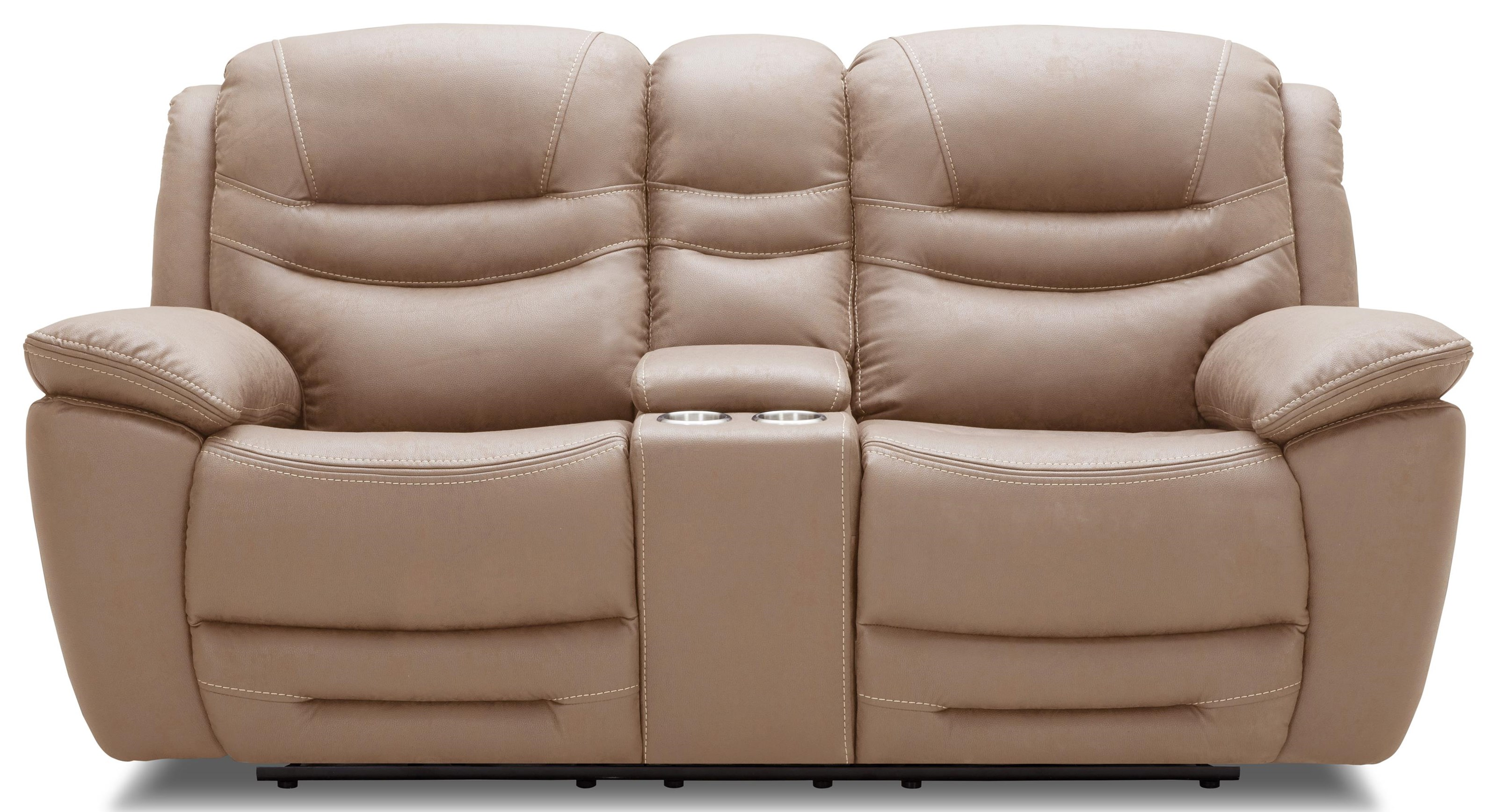 KM083 Reclining Loveseat w/ Console by Kuka Home at Beck's Furniture