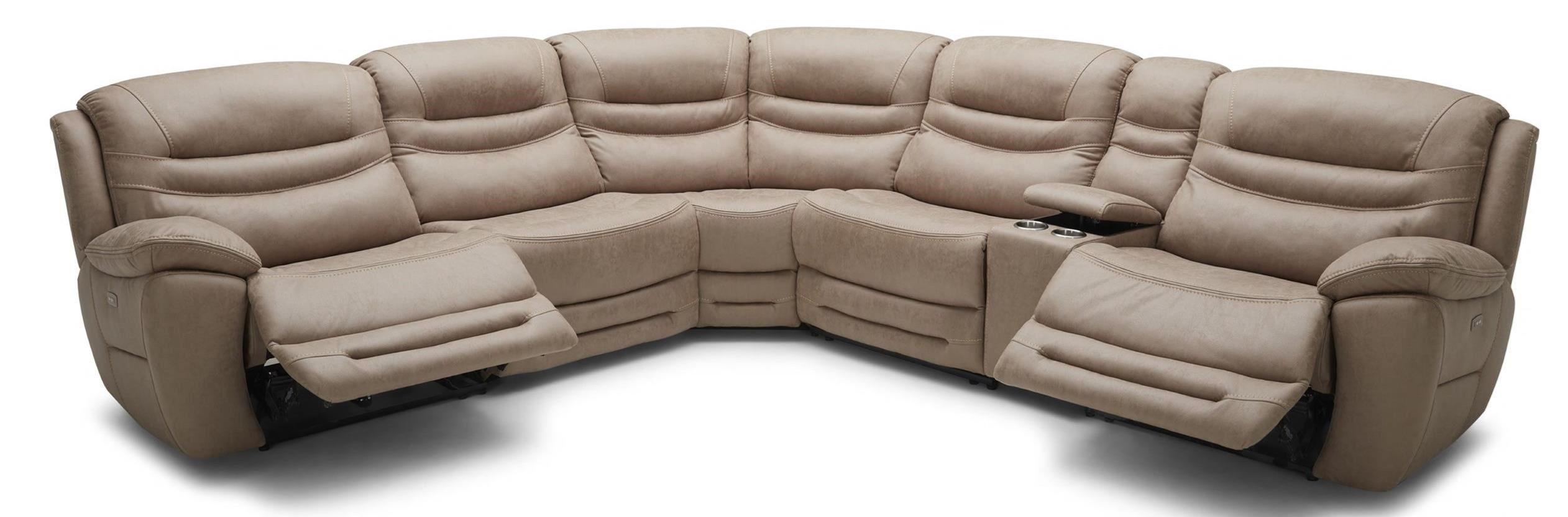 KM083 6 pc Pwr Reclining Sectional Sofa by Kuka Home at Beck's Furniture