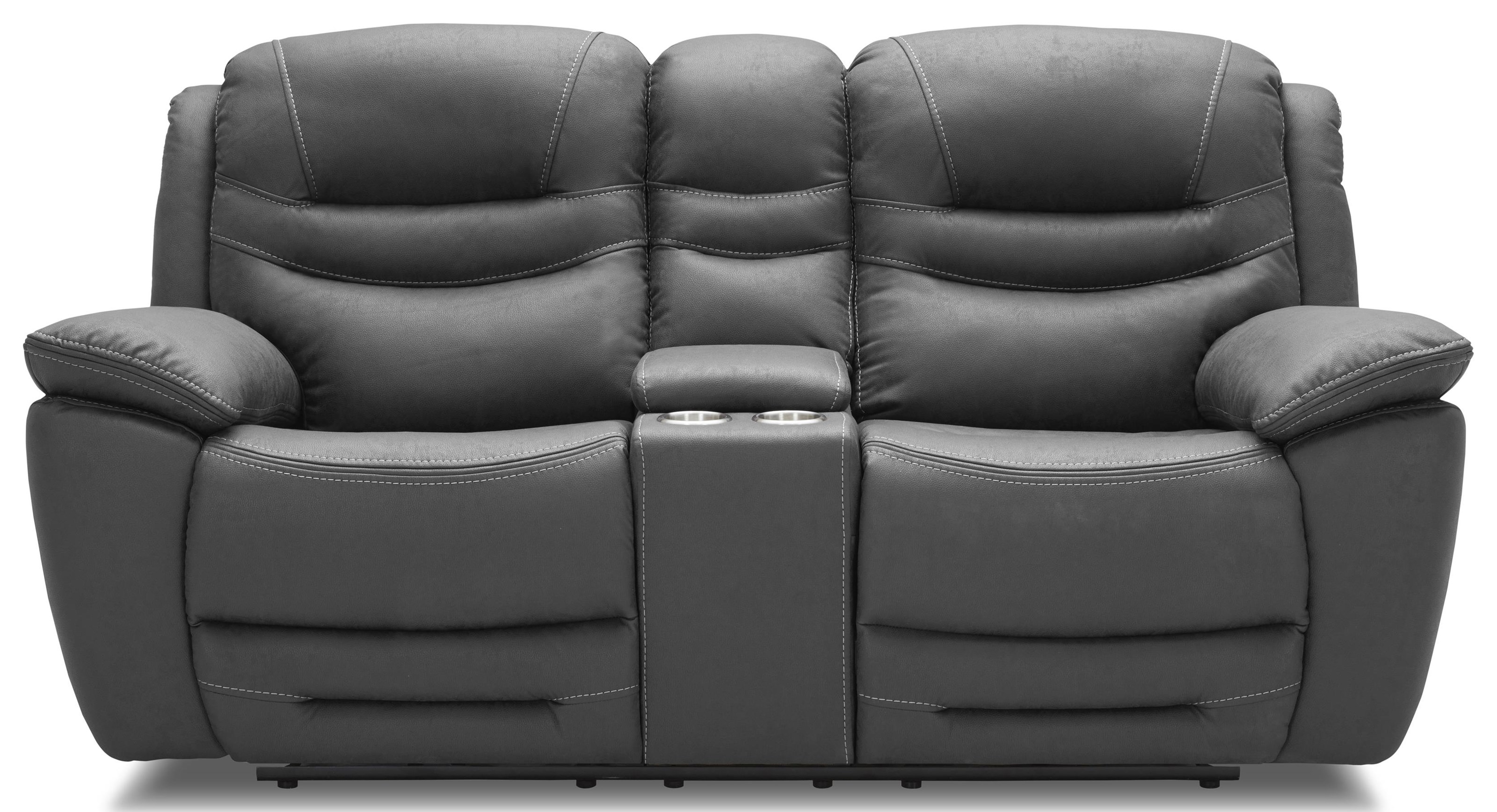 KM083 Pwr Reclining Loveseat w/ Console by Kuka Home at Beck's Furniture