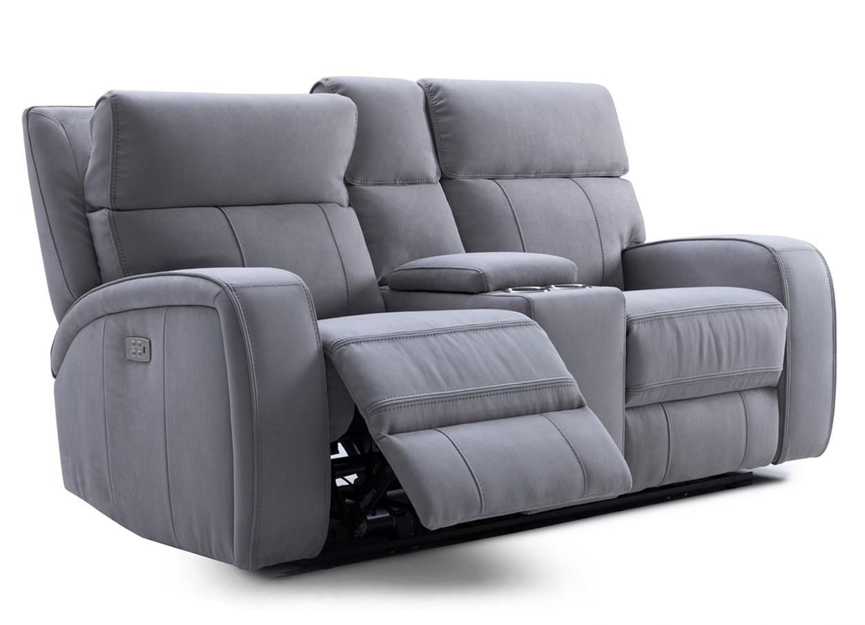 KM132 Reclining Loveseat w/ Pwr Headrests by Kuka Home at Beck's Furniture
