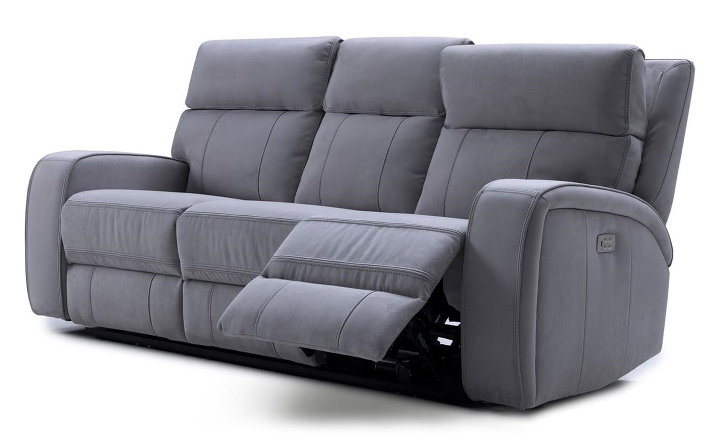 KM132 Power Recline Sofa w/ Pwr Headrest by Kuka Home at Beck's Furniture