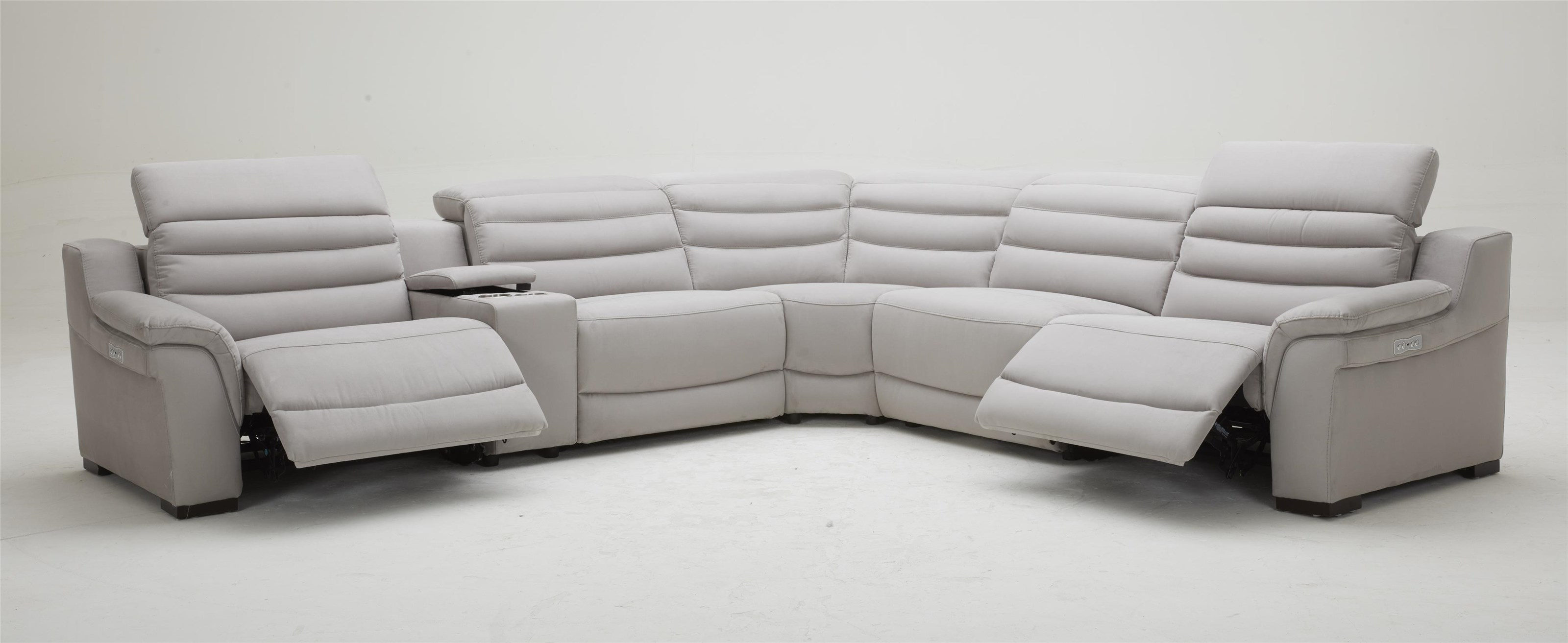 KM177 6-Piece Power Reclining Sectional Sofa by Kuka Home at Beck's Furniture