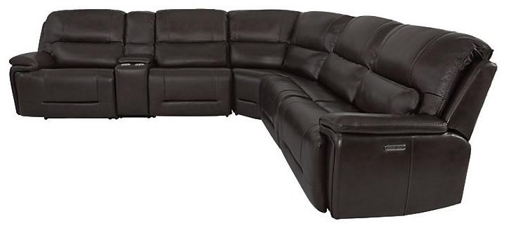 Power Reclining Sectional at Sadler's Home Furnishings