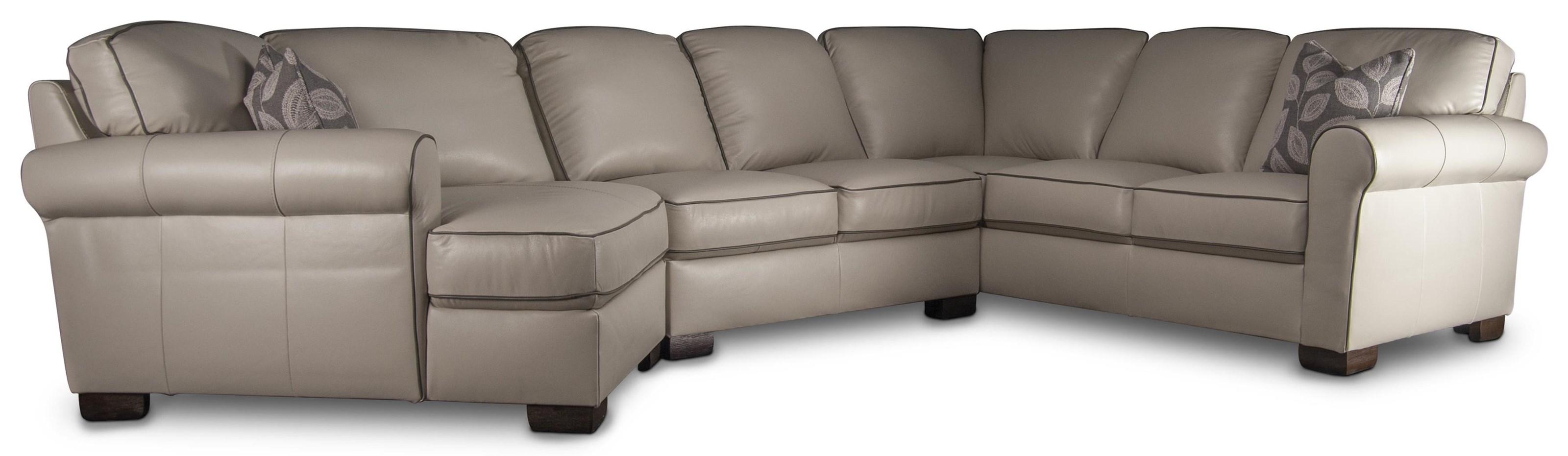 Laramie Laramie 100% Leather Sectional Sofa by Kuka Home at Morris Home