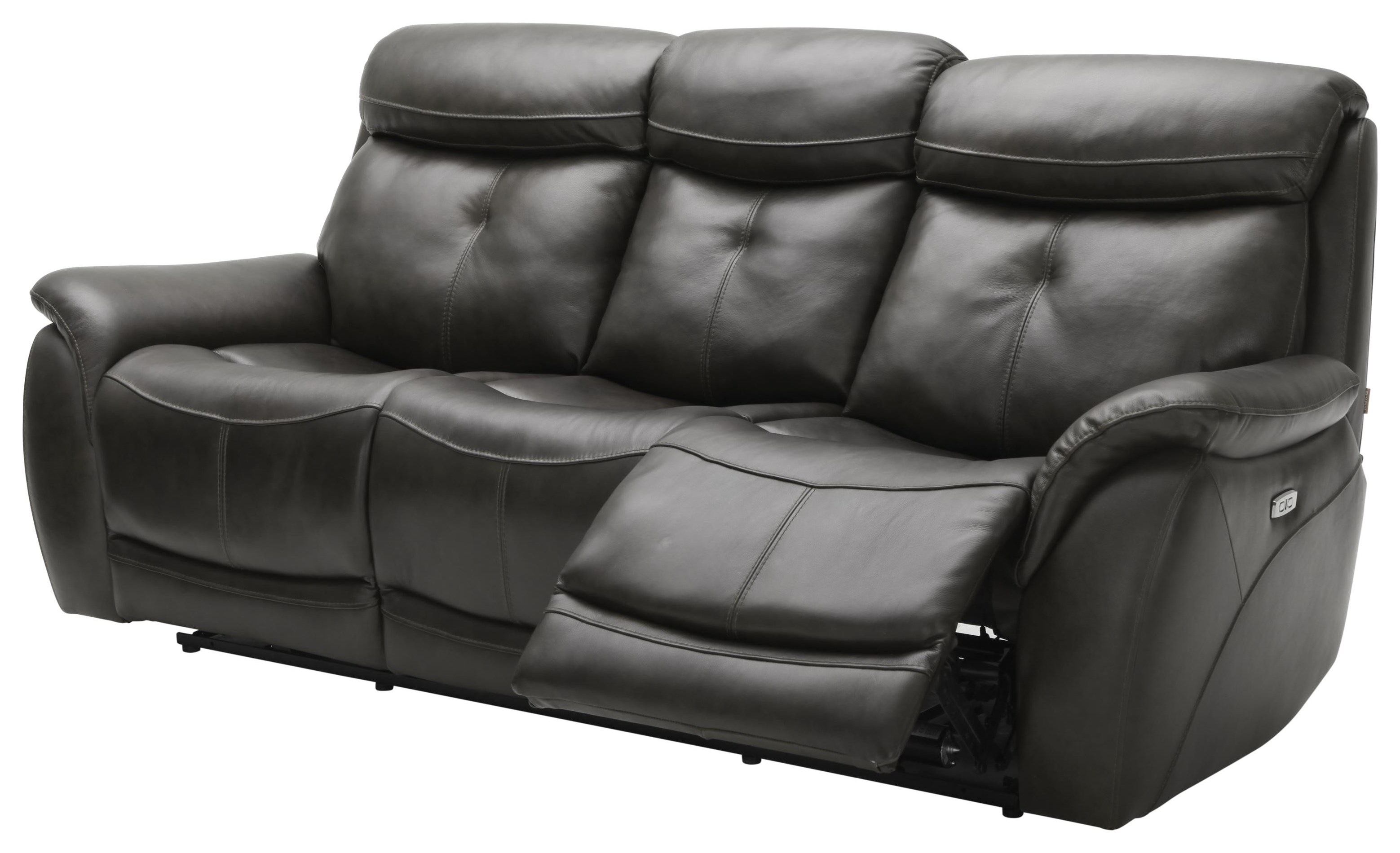 Largos Dual Reclining Leather Sofa by K.C. at Walker's Furniture