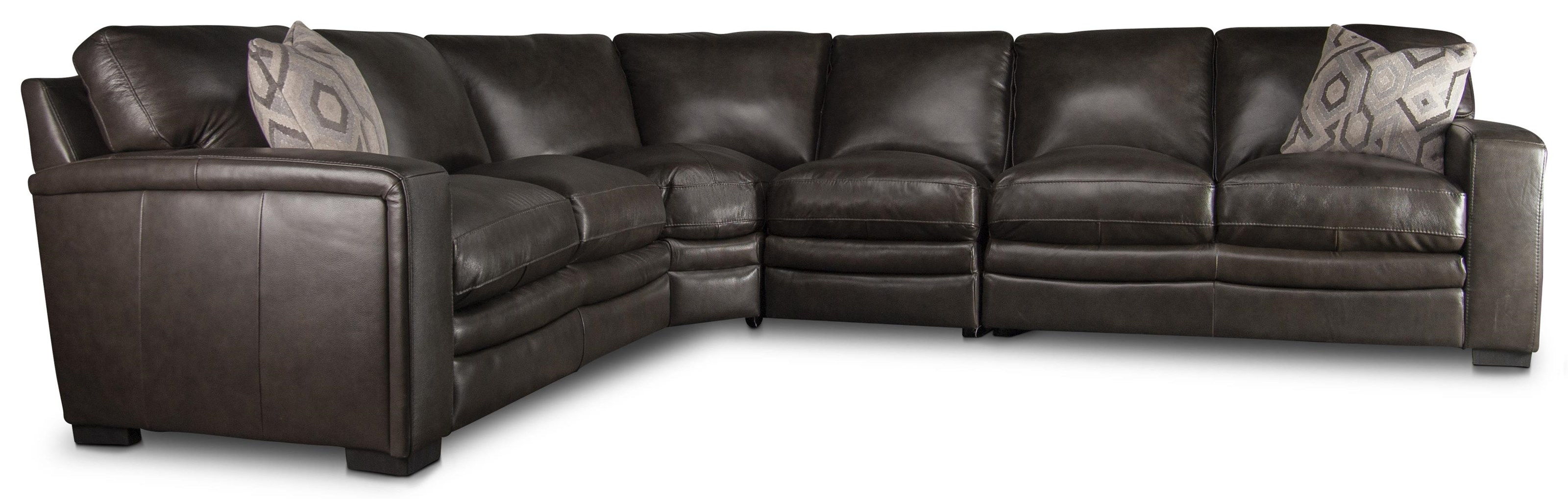 Maricopa Maricopa 100% Leather Sectional Sofa by Kuka Home at Morris Home