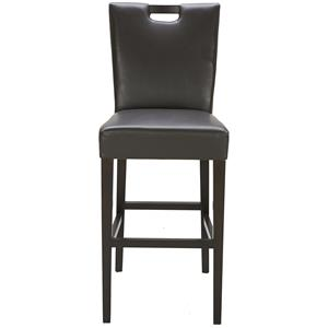 Brighton Brown Leather Bar Stool