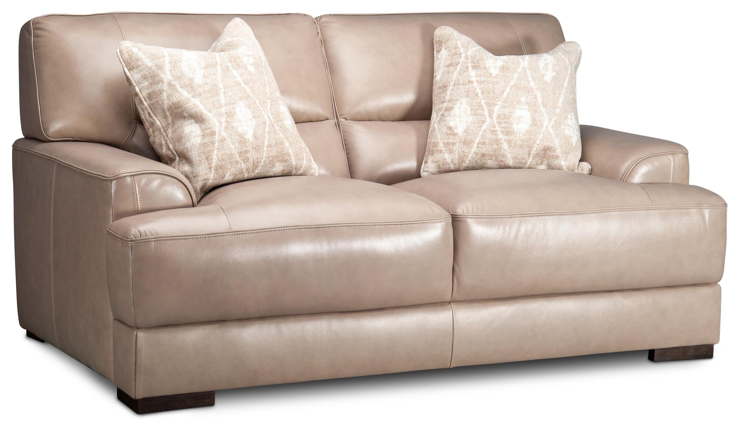Winnett Winnett Leather Loveseat by Kuka Home at Morris Home