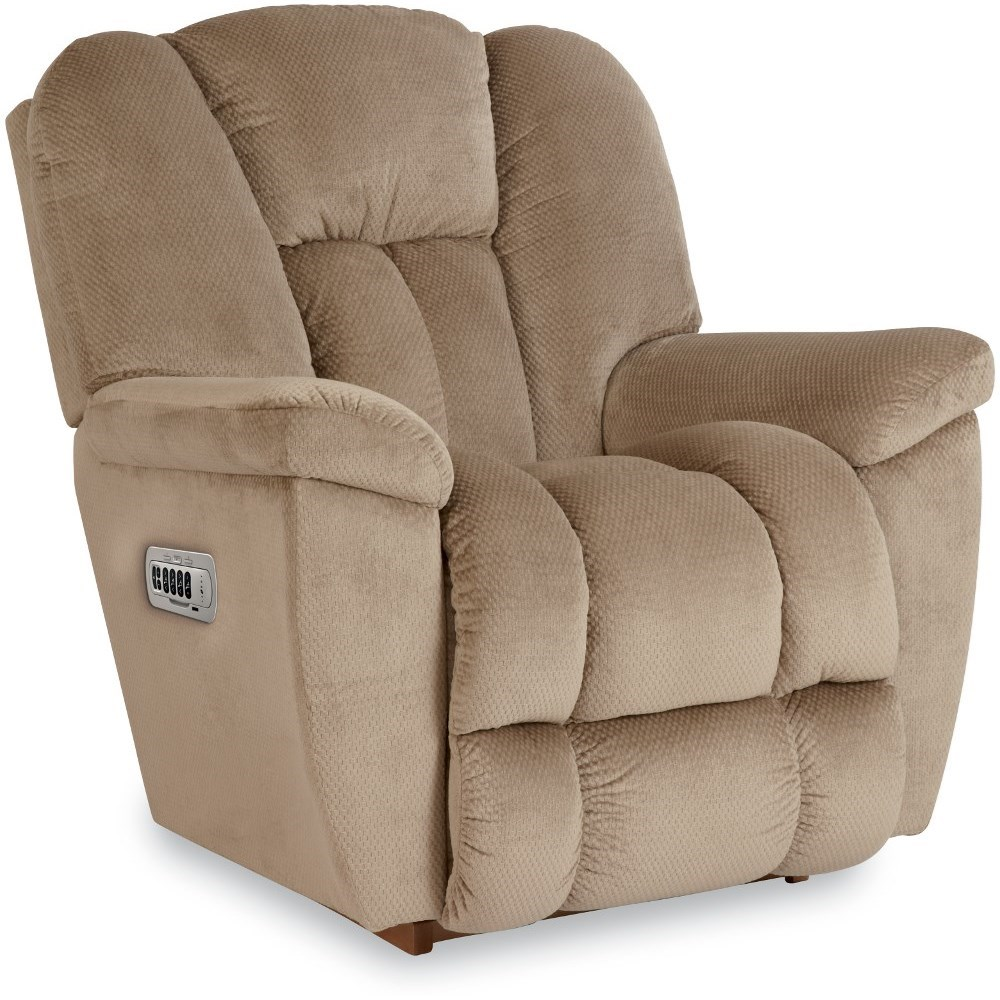 Maverick-582 Power Rocking Recliner w/ Headrest & Lumbar by La-Z-Boy at Lindy's Furniture Company