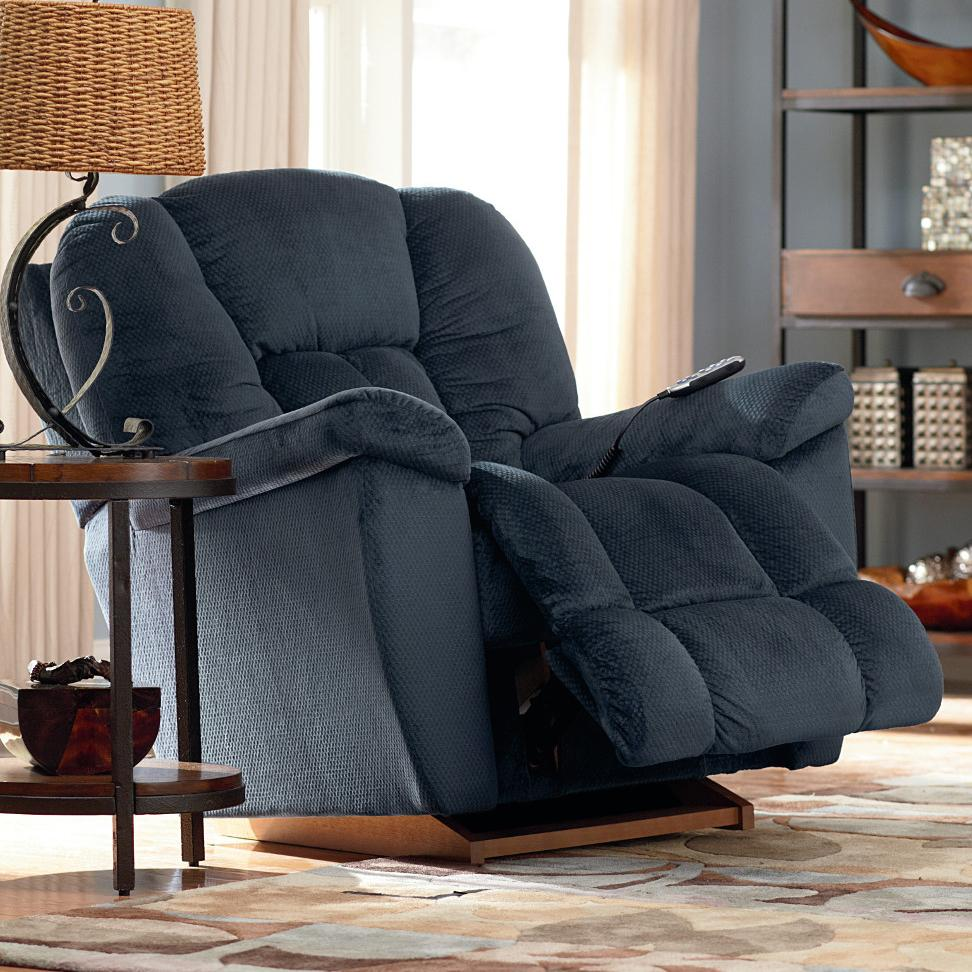 Maverick Power Rocking Recliner w/ Headrest by La-Z-Boy at Lindy's Furniture Company