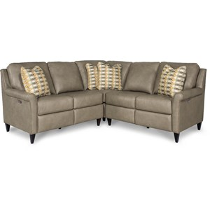 Three Piece Power Reclining Sectional Sofa with 2 Reclining Chairs and 2 USB Charging Ports