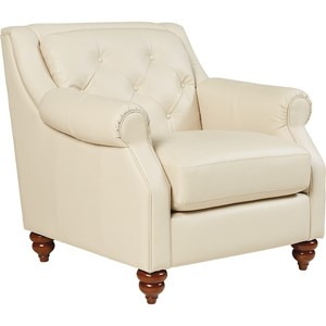 Traditional Stationary Chair with Tufted Seatback