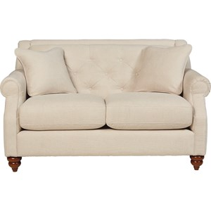Traditional Loveseat with Tufted Seatback