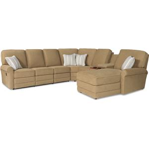 La-Z-Boy Addison 6 Pc Reclining Sectional Sofa w/ RAF Chaise