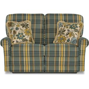 Transitional Reclining Loveseat