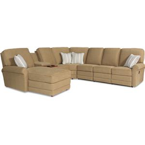 La-Z-Boy Addison 6 Pc Reclining Sectional Sofa w/ LAF Chaise