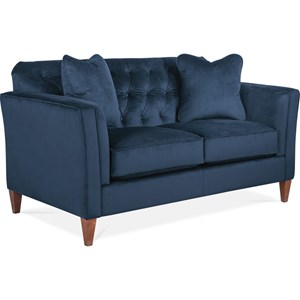 Transitional Premier Loveseat with Chesterfield Button Tufting