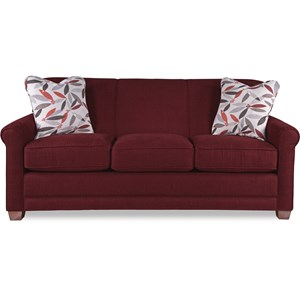 Casual Sleeper Sofa with Premier ComfortCore Seat Cushions and SupremeComfort Mattress